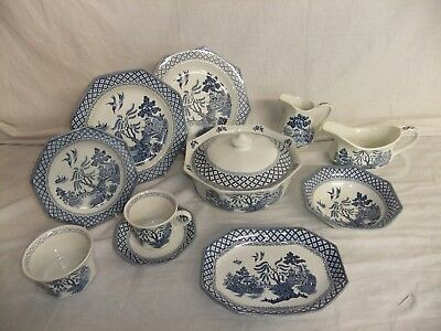C4 Pottery Royal Staffordshire Ironstone by J.& G.Meakin - Willow 7F4A