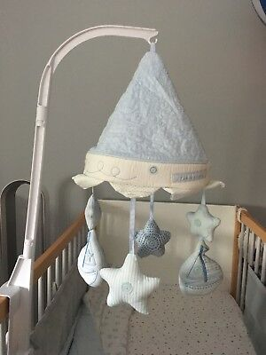 Silver Cross Luxury Cot Mobile. Blue. Musical.