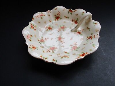 Vintage Moriyama Mori-Machi (Mm) Made In Japan Delicate Rose Motif Candy Dish