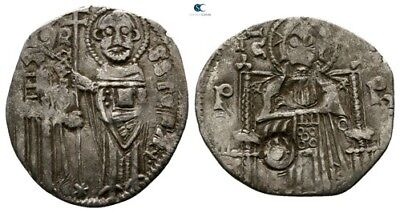Savoca Coins Medieval Silver Coin Christ Countermark 1,09g/17mm $KBP3212