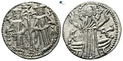 Savoca Coins Medieval Silver Coin Christ 1,48g/18mm $KBP3214