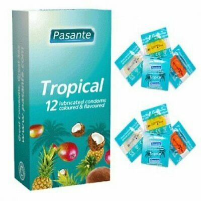 Pasante Tropical Flavoured Condoms [Best price on Ebay] - Available in 1, 4, ...