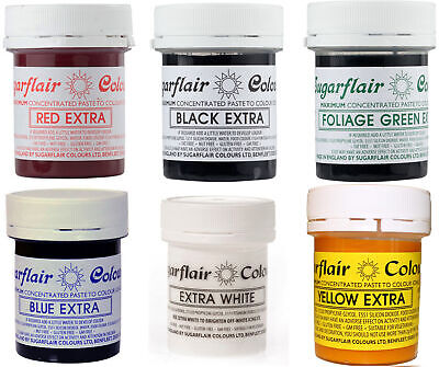 Sugarflair | Concentrated Food Colouring Paste | Extra - 42g | All Shades