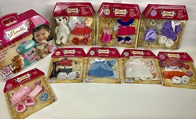 Lil Luvables Fluffy factory with 6 bear skins , 8 outfits & more - Brand New