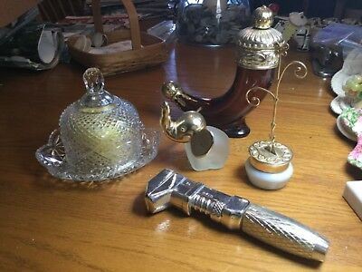Vintage avon bottles and butter dish lot. Smoke free home. Excellent condition.
