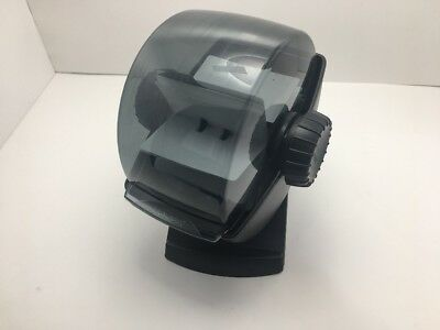 Rolodex R-48 Covered Rotary Business Card File 360 Degree Swivel Black Plastic