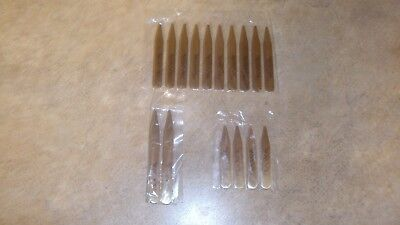 16 Mens Polished Metal Collar Stays 3 Different Sizes