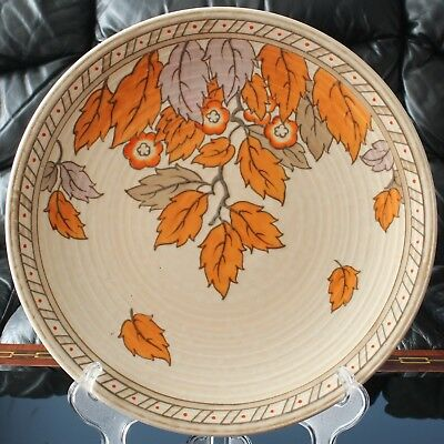 Crown Ducal CHARLOTTE RHEAD Golden Leaves Pattern 4921 Tube Lined Wall Plate