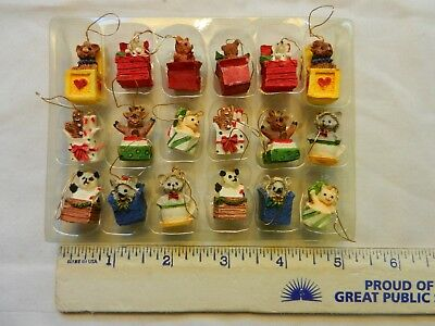 Miniature Christmas Tree Ornaments  -  Set Of 18