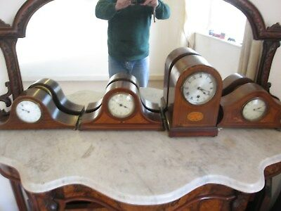 X4 Mantel French Antique 8 day Platform Balance Clock 1 Spares Repairs Parts