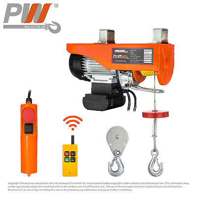 Prowinch Wireless Electric Rope Hoist 440 lbs. capacity - 120V