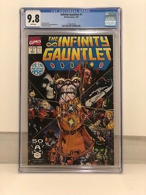 Infinity Gauntlet #1 Cgc 9.8 Nm/mt White Pages **hot Item**