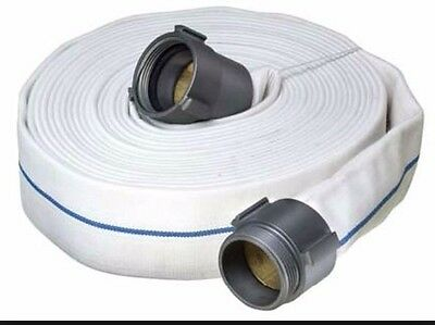"""2 1/2"""" x 50' Double Jacket Fire Hose Coupled with Aluminum NST Thread Ends"""