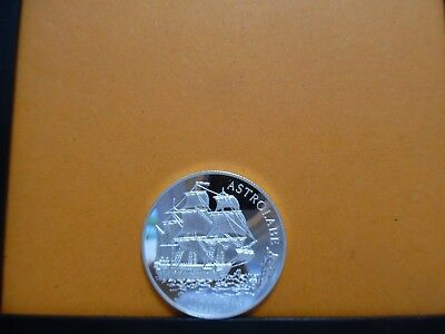 5 Dollars Cook Islands 1992 - Astolabe - Segelschiff - Silber PP