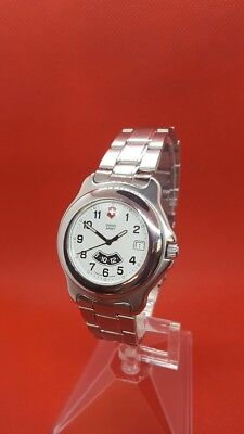 Swiss Army Mens Vintage Stainless Watch Precision GMT Sport Date Military Quartz