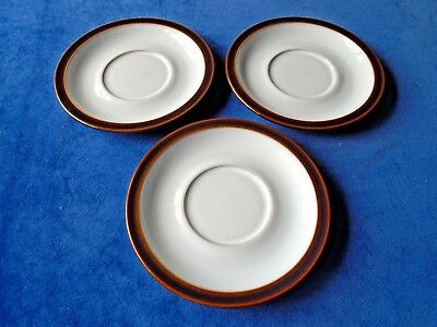 DENBY - SHIRAZ - 3 x LARGE/BREAKFAST SAUCERS - 17.5cms - GOOD CONDITION - used