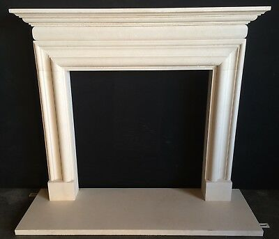 Limestone BOLECTION Fireplace Mantel – Hand Carved limestone Mantle