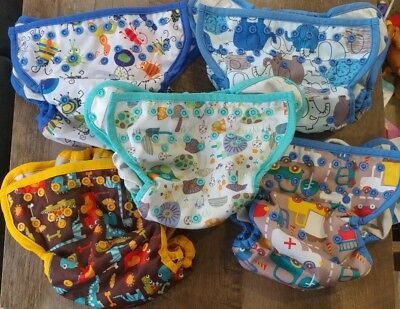 Blueberry Coveralls Cloth Diaper-Lot Of 5