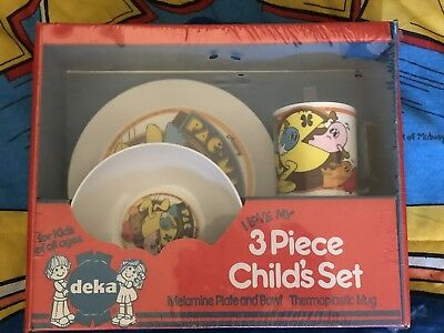 1980's ORIGINAL Pac-Man Arcade - VINTAGE SEALED Deka Children's Dinette Set! CUP