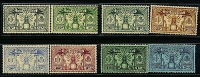 NEW HEBRIDES GB, Sc41~48(8) Short Set, 0.5d~2sh (BR) 1925 Definitive MH $24-h