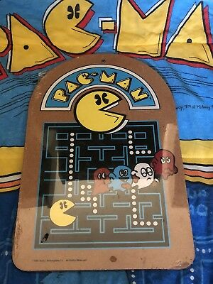 1980's ORIGINAL Pac-Man Arcade - VINTAGE SEALED Cork Board Wall Hanger - NICE!