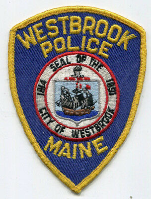 Westbrook Maine Police Patch - Older Issue // FREE US SHIPPING!