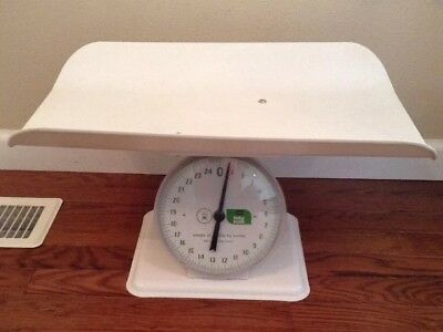 Vintage Sears Nursery Infant Baby Scale Weighs 25 Pounds By Ounces EUC