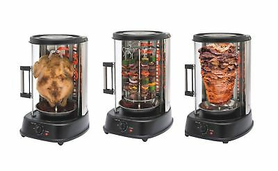New 1500w Vertical Electric Rotating Grill Rotisserie Chicken Shawarma Kebab Bbq
