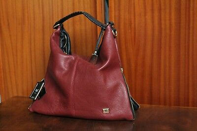 88270a8752 VERSACE 19.69 100% Leather Women s Red HandBag New with Tags Made in Italy