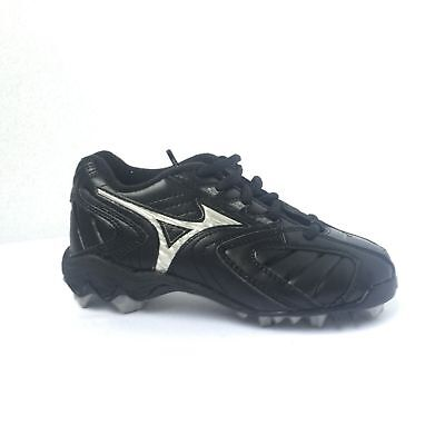 465287d762a MIZUNO Baseball Cleats Kids Youth 9-Spike Franchise G3 Low Black NIB SIZE  1.5
