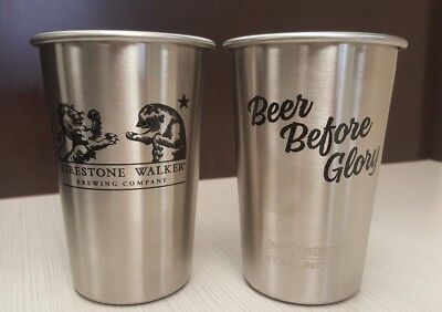 Firestone Walker Brewery Klean Kanteen Stainless Steel Pint Tumbler Beer Glass!
