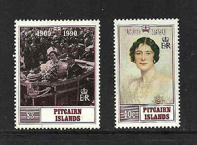 PITCAIRN ISLANDS POSTAL ISSUE - MINT COMMEMORATIVE SET 1990 - QUEEN MOTHER 90th