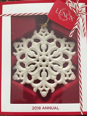 Lenox 2018  Snow fantasies Snowflake Annual Ornament - New in box