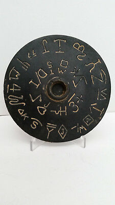 Antique Branding Iron Advertising Disc on Stand