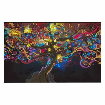 lic Eye Tree Muscle Silk Cloth Art Poster Home Wall Decor, Psychedelic Tree W2J7