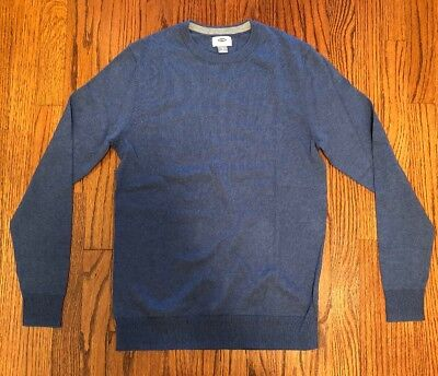 ca61449ca3f NWT MENS OLD Navy Small Blue Crew Neck Sweater -  15.00
