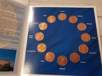 2002 Europe Collection of the 5 Cent Coins, 12 5 Cent Münzen im Set
