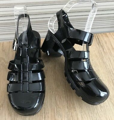 SALE. Joblot 7. NEW 20 PAIRS Black Jelly Patent Sandals. BARGAIN