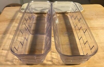 Longaberger Cracker Basket Hard Protectors 40943 & 40918 W/ Shared Lid