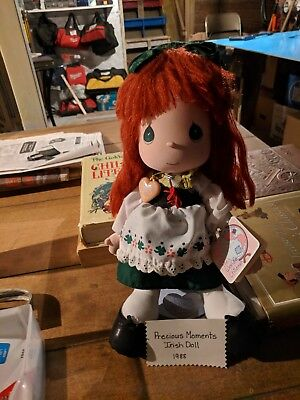Precious Moments Children Of The World 1988 Ireland Doll With Stand
