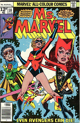 Ms. Marvel 18, First True Appearance Of Mystique, June 1978, Fn-Vf