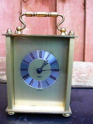 Vintage Brass Mantel Carriage Clock West Germany Swiss Movement