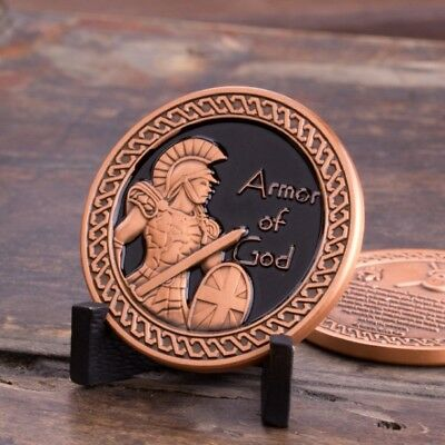 Put on the Whole Armor of God Eph. 6:10-12 Copper Antique Coin Display Gift Set