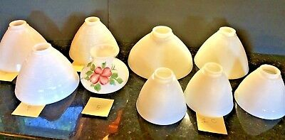 Choice-Vintage Corning White Milk Glass Torchiere Lamp Shades- Gwtw Shade