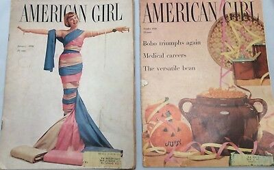 Lot of 2 The American Girl Magazine 1956 Vintage Advertisements Ads