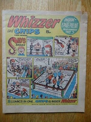Vintage Whizzer And Chips Comic 2nd Nov 1974