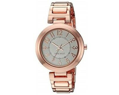 NINE WEST WOMEN S NW 1699WTBK Easy To Read Watch with Black Strap ... 8d669e2f28