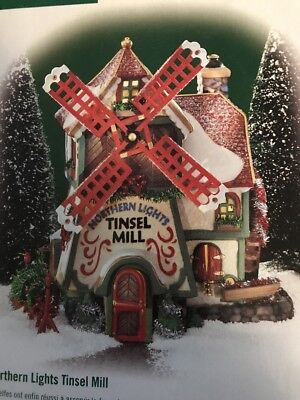 Northern Lights Tinsel Mill Dept. 56 North Pole Village New In Box Item 56704