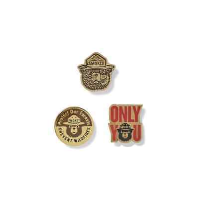 FIlson USFS Smokey the Bear Enamel 3 Pin Set Limited Edition Only You SOLD OUT