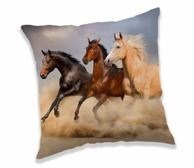 Horse Runnig in the Sand Filled Pillow Cushion